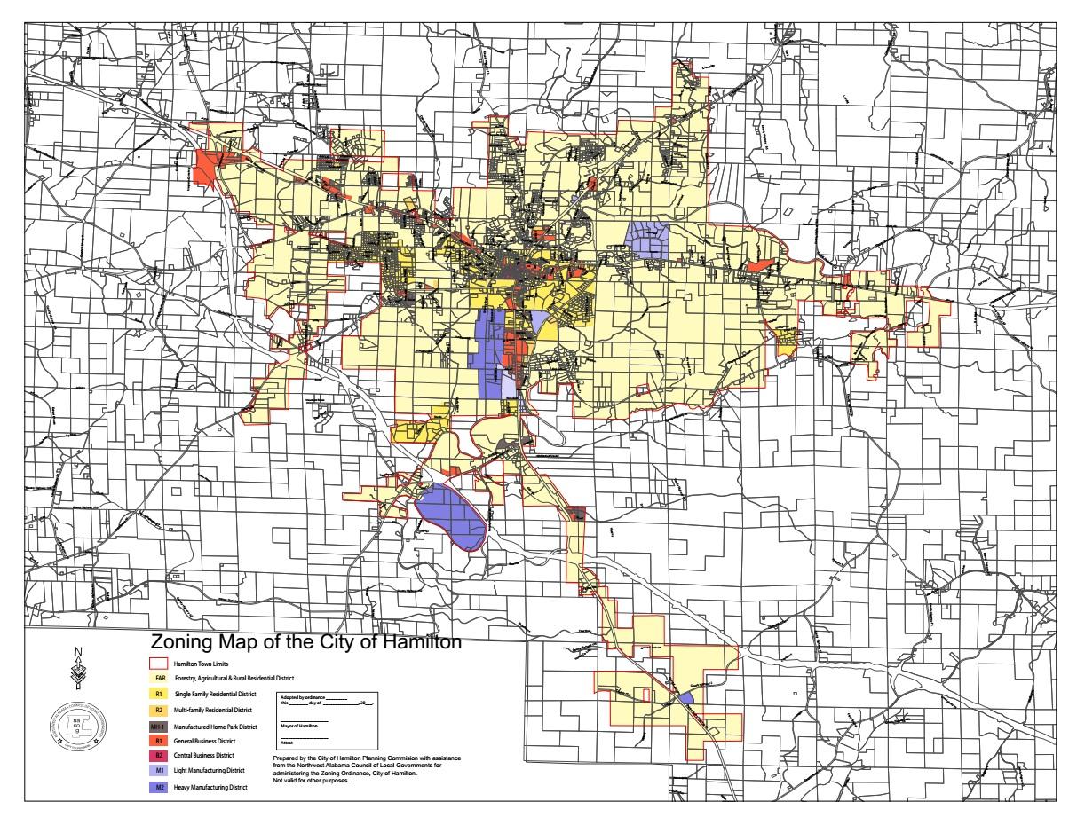 Zoning Map - City of Hamilton, Alabama